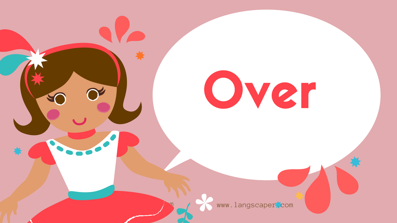 graphic of word 'over'