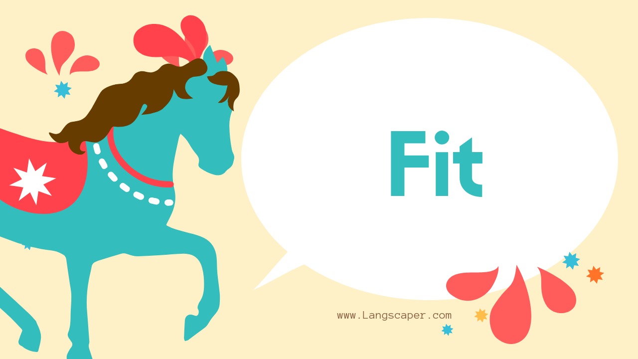 langscaper.com - english vocabulary - fit